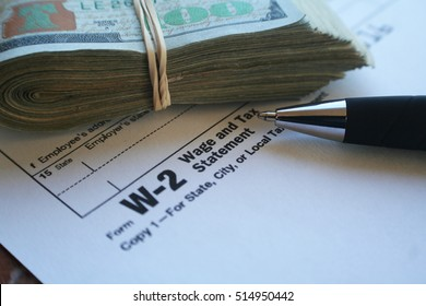 Taxes W-2 Form Stock Photo High Quality
