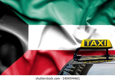 Taxi service conceptual image in country of Kuwait