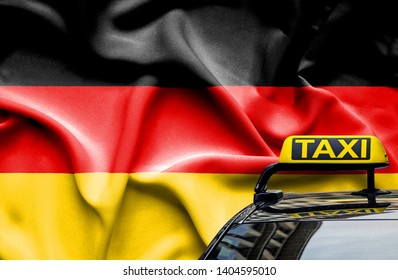 Taxi service conceptual image in country of Germany