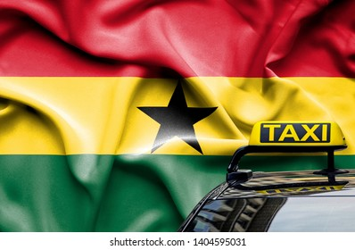 Taxi service conceptual image in country of Ghana