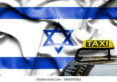 Taxi service conceptual image in country of Israel