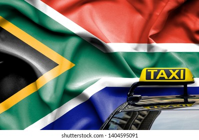 Taxi service conceptual image in country of South Africa