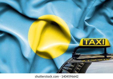 Taxi service conceptual image in country of Palau