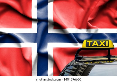 Taxi service conceptual image in country of Norway