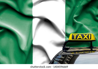 Taxi service conceptual image in country of Nigeria