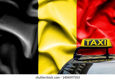 Taxi service conceptual image in country of Belgium