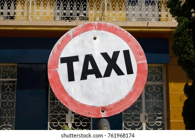 Taxi stand board on public roads