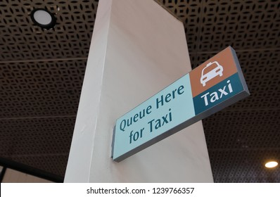 Taxi stand sign Singapore
