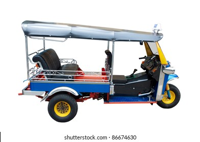 Taxi in Thailand on White Background