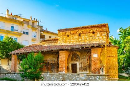 Taxiarchis mitropoleos church in Kastoria, Greece