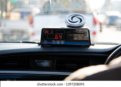 Taximeter in Bangkok City in Thailand, Asia