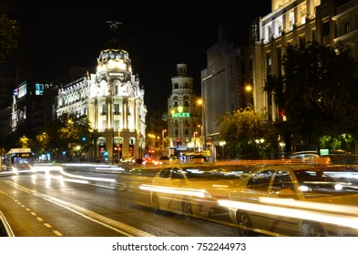 Taxis & Light Trails - October 2017 - Madrid, Spain