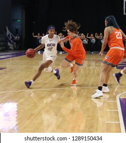 Taylor Caldwell guard for the Grand Canyon University Lopes at GCU Arena in Phoenix,AZ/USA January 12,2019.