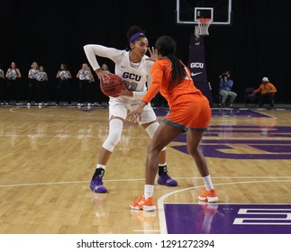 Taylor Caldwell guard for the Grand Canyon University Antelopes at GCU Arena in Phoenix,AZ/USA January 12,2019.