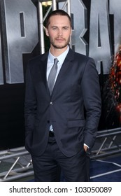 """Taylor Kitsch at the """"Battleship"""" Los Angeles Premiere, Nokia Theatre L.A. Live, Los Angeles, CA 05-10-12"""