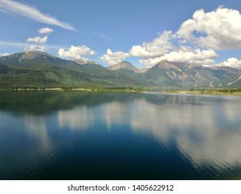 Taylor Reservoir, Colorado. Beautiful clouds envelope the mountain landscape.