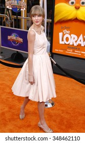 "Taylor Swift at the Los Angeles Premiere of ""Dr. Suess' The Lorax"" held at the Universal Studios Hollywood, California, United States on February 19, 2012."
