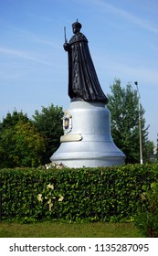 TAYNINSKAYA, RUSSIA - CIRCA JULY 2018 Monument of tsar Nicolas II