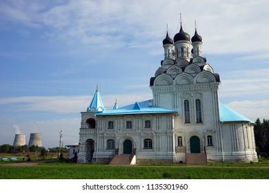 TAYNINSKAYA, RUSSIA - CIRCA JULY 2018 Russian orthodox church