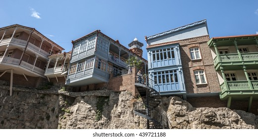 Tbilisi, capital of Georgia . Famous throughout the world Tbilisi balconies in the Old Town .