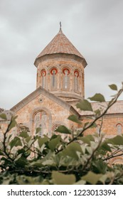 Tbilisi, Georgia - August 10, 2018: Saint Nino Bodbe Monastery - Georgian Orthodox monastic complex near Sighnaghi, Georgia.