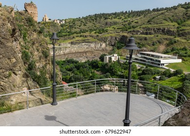 TBILISI, GEORGIA, EASTERN EUROPE - Botanical gardens of Tbilisi, and viewing platform at Narikala Fortress.