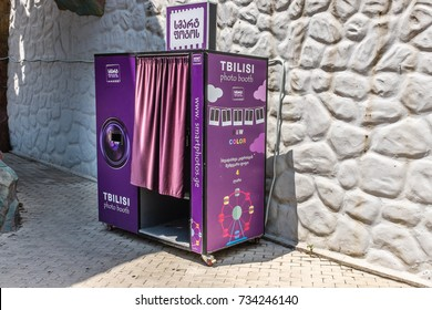 TBILISI, GEORGIA, EASTERN EUROPE - JULY 15TH, 2015 : Tbilisi Photo Booth located at Mtatsminda Park providing facility for public to obtain instant photographs.