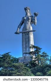 Tbilisi, Georgia - July 11, 2018: Kartlis Deda (Mother of a Georgian) monument in Tbilisi, Georgia.