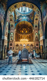 Tbilisi, Georgia - July 18, 2015. Interior of Sioni Cathedral of Dormition commonly known as Tbilisi Sioni