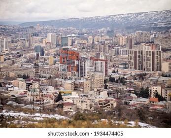 Tbilisi, Georgia. March 12, 2021. Tbilisi aerial view.