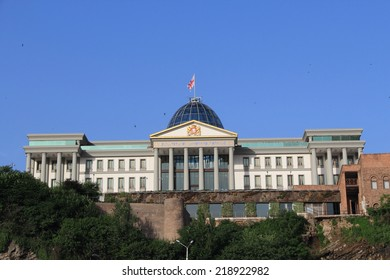 TBILISI, GEORGIA - MAY 15, 2014: The official residence of Georgian President. Current Georgian president Giorgi Margvelashvili says he has decided not to use any of the presidential residences.