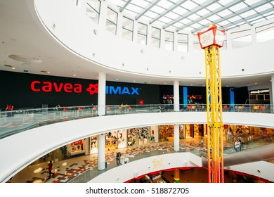 Tbilisi, Georgia - May 24, 2016: Cinema Cavea IMAX at the modern shopping mall East Point