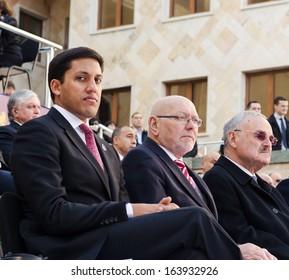 TBILISI, GEORGIA - NOVEMBER 17: USAID representative Rajiv Shah at the inauguration of President of Georgia. on November 17, 2013 in Tbilisi.