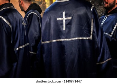 TBILISI, GEORGIA - OCTOBER 20, 2017: The priests are preparing before the prayer in orthodox church