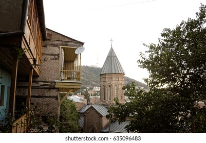 The Tbilisi Sioni Cathedral is situated in historic Sionis Kucha - Sioni Street in downtown Tbilisi