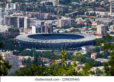 Tbilisi/Georgia June 19, 2017 Aerial view of Boris Paichadze Dinamo Arena.