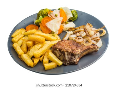 T-bone fresh hot pork steak