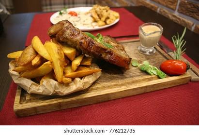 T-bone Steak at the Restaurant
