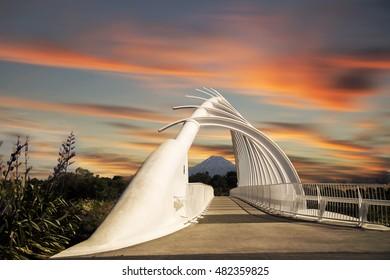 The Te Rewa Rewa bridge, New Plymouth New Zealand