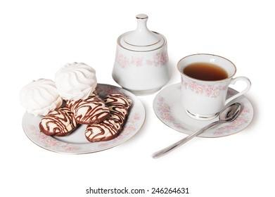 tea cake sweet isolated bakery