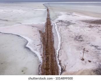 Tea card Salt Lake mining tracks