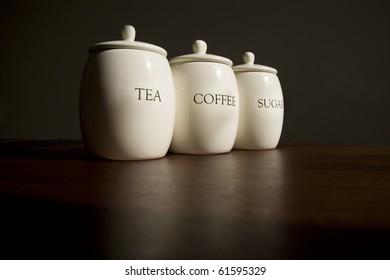 Tea, Coffee and Sugar pots
