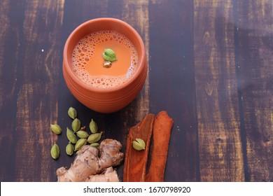 Tea cup (Chai in kulhad) Ginger, Cardamom & Cinnamon