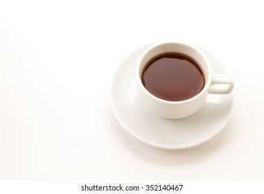 tea cup on white background