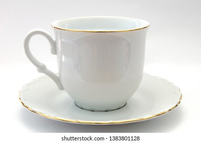 tea cup and saucer from porcelain