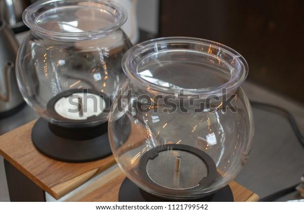 Tea dripper for serving delicious tea. The glass bowl clearly shows the movement of the leaves.