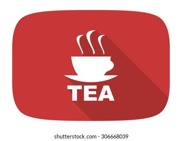 tea flat design modern icon with long shadow for web and mobile app