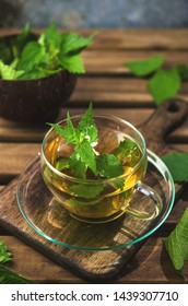 Tea from fresh nettle, natural medicine