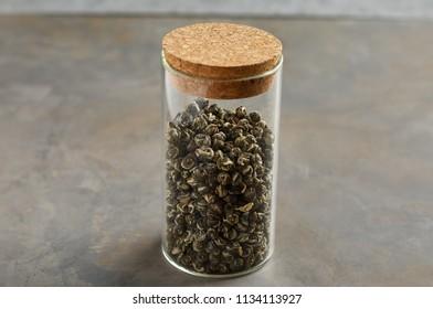 Tea in glass jar