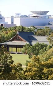 Teehaus auf Schloss Osaka, Japan